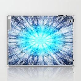 Blue Snowflake Mandala Laptop & iPad Skin