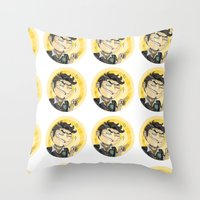 borderlands Throw Pillows featuring Borderlands - Handsome Jack by Tarn