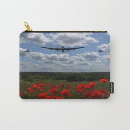 Lancaster Spitfire and Hurricane over poppy field Carry-All Pouch