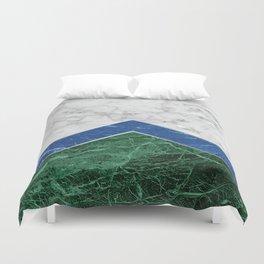 Arrows - White Marble, Blue Granite & Green Granite #220 Duvet Cover