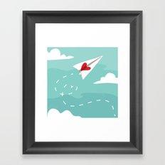 Love Letter Airplane Framed Art Print