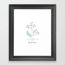 Siembra Amor Framed Art Print