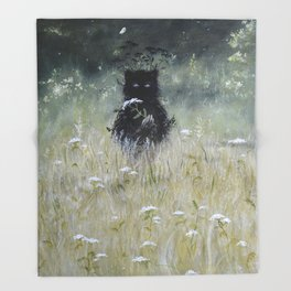Nature Spirit - painting Throw Blanket