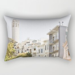 Coit Tower - San Francisco Photography Rectangular Pillow
