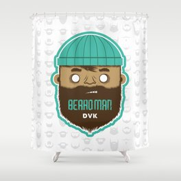 B E A R D M A N Shower Curtain