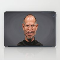 celebrity iPad Cases featuring Celebrity Sunday ~ Steve Jobs by rob art | illustration