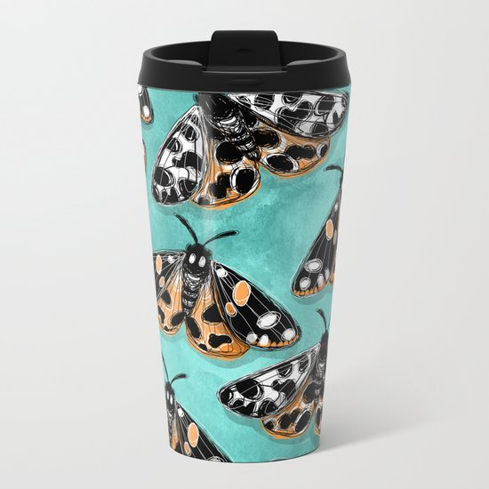 Tiger Moths Metal Travel Mug