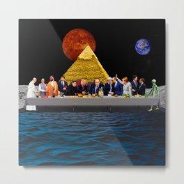 The Last Supper - Trump - Putin - Aliens - Papa - Digital Collage Artwork Metal Print