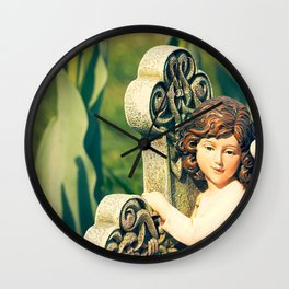 Angel and Tulip Wall Clock