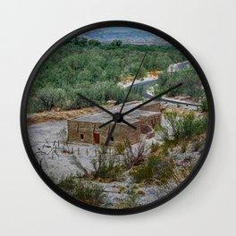 Hacienda in the Desert Wall Clock