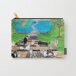 Rainbow Bridge Cats and dogs Carry-All Pouch