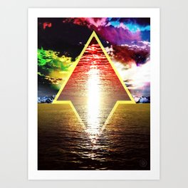 Golden Sea Art Print