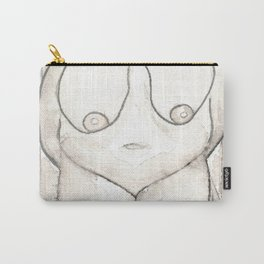LARGE WOMAN NUDE big lady nudes plus size women naked original watercolor painting art short women body positive fat obese breasts Carry-All Pouch