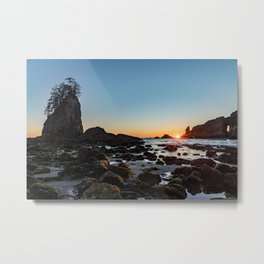Sunburst at the Beach Metal Print