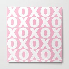 XOXO - Light Pink Pattern Metal Print