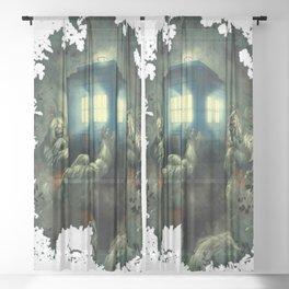 Tardis Time Machine Doctor Who Sheer Curtain
