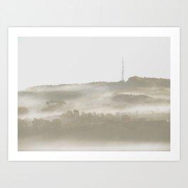 Smokey Trees Art Print