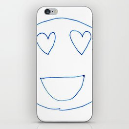 Smiley Faces with Heart Eyes iPhone Skin