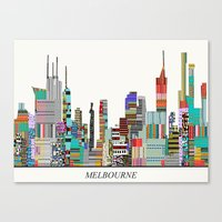 melbourne Canvas Prints featuring Melbourne by bri.buckley