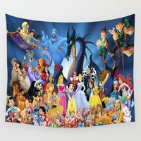 cartoon Wall Tapestries featuring Mix cartoon by Acus