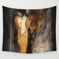 imagerybydianna Wall Tapestries featuring amber beads; sketch study by Imagery by dianna