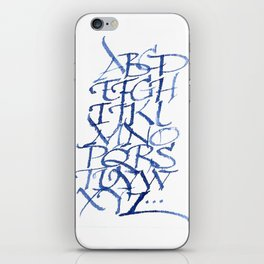 Calligraphy capitals iPhone Skin