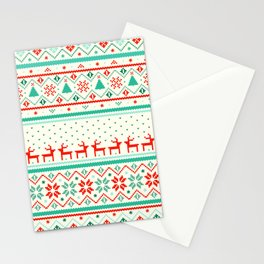 Festive Fair Isle Stationery Cards