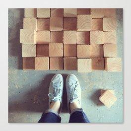 Wood Blocks Canvas Print