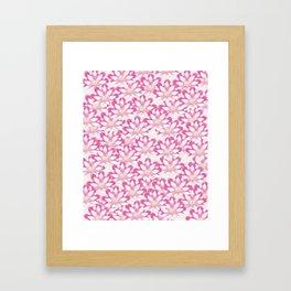 Lotus flower pattern Framed Art Print
