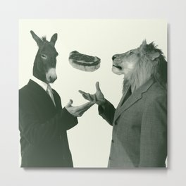 THE WILD ASS & THE LION Metal Print