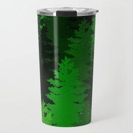Green Pine Trees Travel Mug