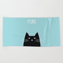 Purr Beach Towel