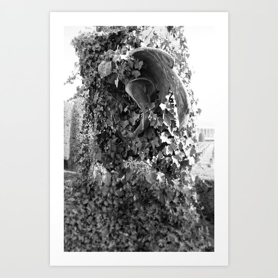 Angel in the ivy Art Print