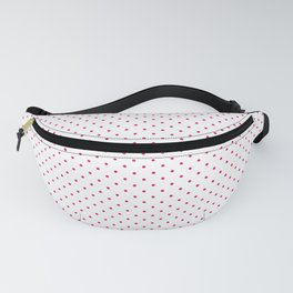 Small Dark Hot Pink on White Polka Dots Fanny Pack