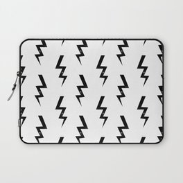 Bolts lightning bolt pattern black and white minimal cute patterned gifts Laptop Sleeve