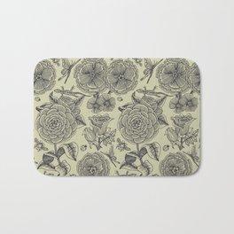 Garden Bliss - vintage floral illustrations  Bath Mat
