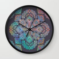 boho Wall Clocks featuring Boho Intense by micklyn
