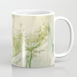 Sanctuary -- White Queen Anne's Lace Meadow Wild Flower Botanical Coffee Mug