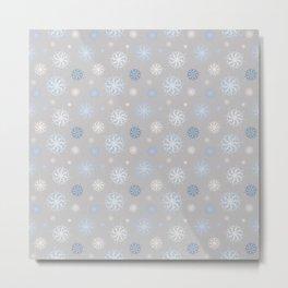 Upper Peninsula Snowflakes Metal Print
