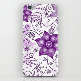 Colorful Butterflies and Flowers V8 iPhone Skin