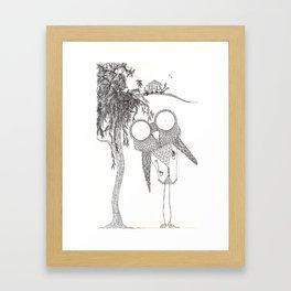 Hoo Knew! Framed Art Print