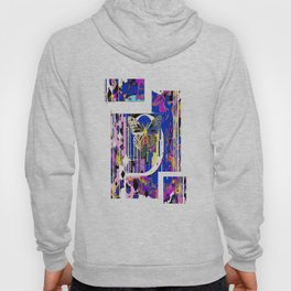 Song of the White Butterfly Abstract Hoody