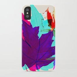 Maple Leaves Falling iPhone Case
