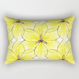 Flower Sketch 3 Rectangular Pillow