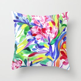 Abstract Roses 3 Throw Pillow