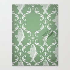 In which a fish frees itself (green option) Canvas Print