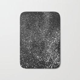 Black Night Glitter #1 #shiny #decor #art #society6 Bath Mat