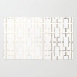 Simply Mid-Century in White Gold Sands Rug