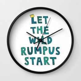 Let The Wild Rumpus Start Wall Clock