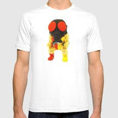 FLY GUY Mens Fitted Tee MEDIUM White
